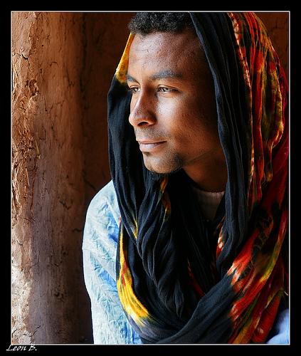 Homem Mmarroquino com turbante